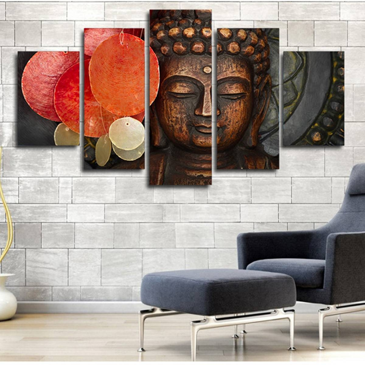 Online Buy Wholesale 3D 5 Piece Canvas Art From China 3D 5 Piece With Regard To Most Recently Released 3D Buddha Wall Art (Gallery 11 of 20)
