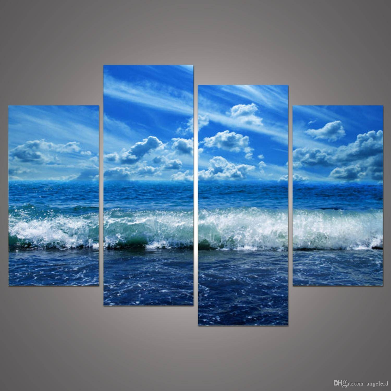 Online Cheap Paintings Modular Paintings Sky Clouds Wall Art Pertaining To Most Current Multi Panel Canvas Wall Art (View 11 of 20)