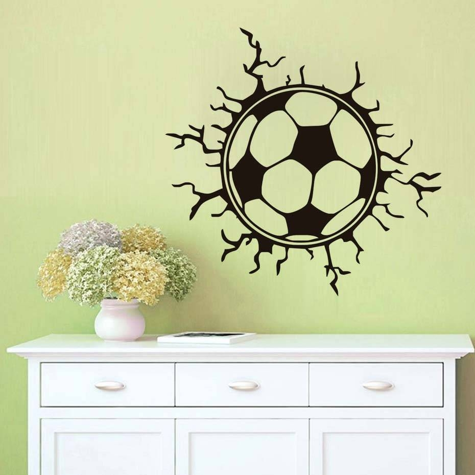 Online Get Cheap Wall Arts Football Aliexpress | Alibaba Group For Current Football 3D Wall Art (Gallery 19 of 20)