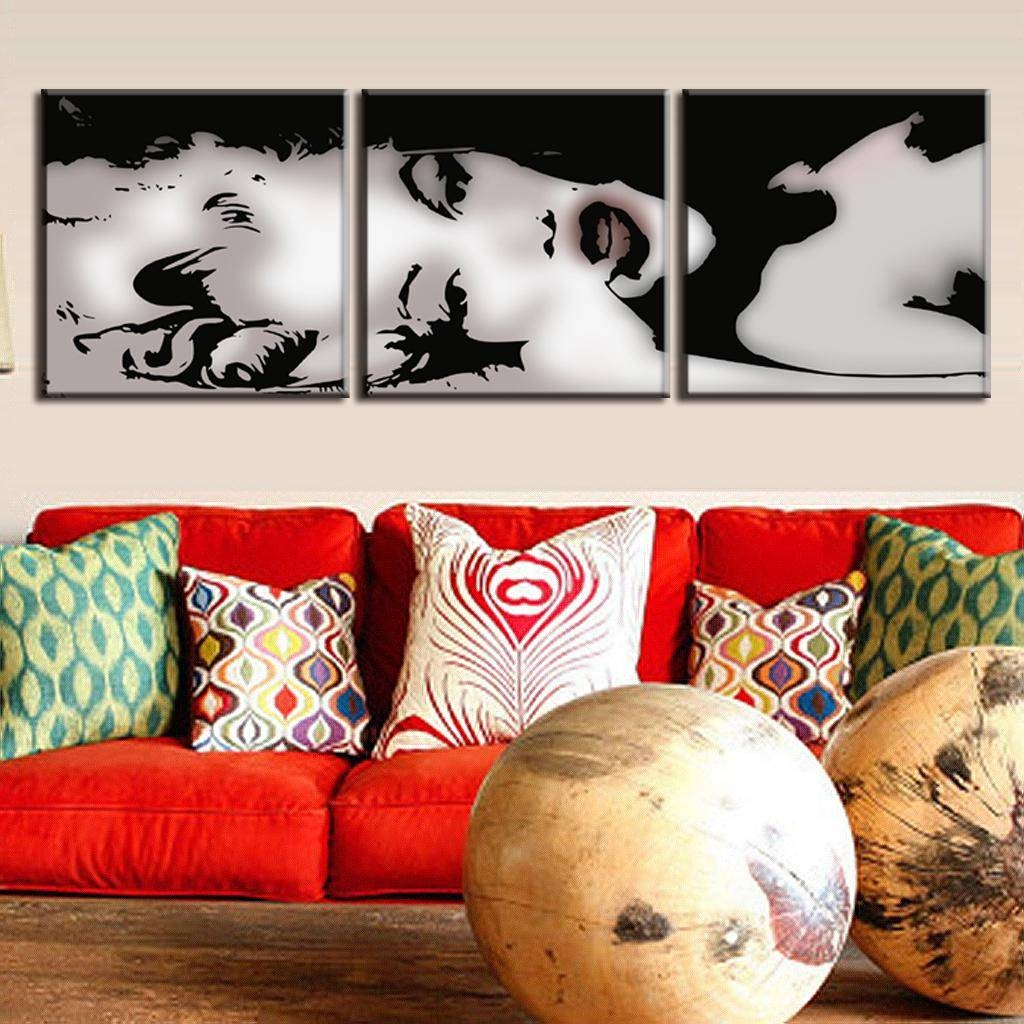 Online Shop 3 Pcs/set Vintage Poster Framed Portrait Painting Within Most Current Marilyn Monroe Wall Art (View 18 of 25)