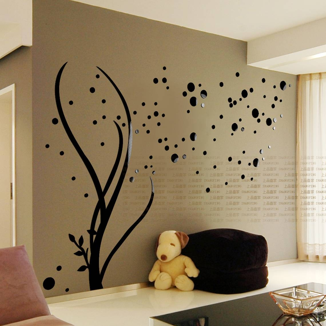 Online Shop 3D Acrylic Family Tree Wall Stickers Living Room Wall Regarding 2018 3D Tree Wall Art (Gallery 9 of 15)