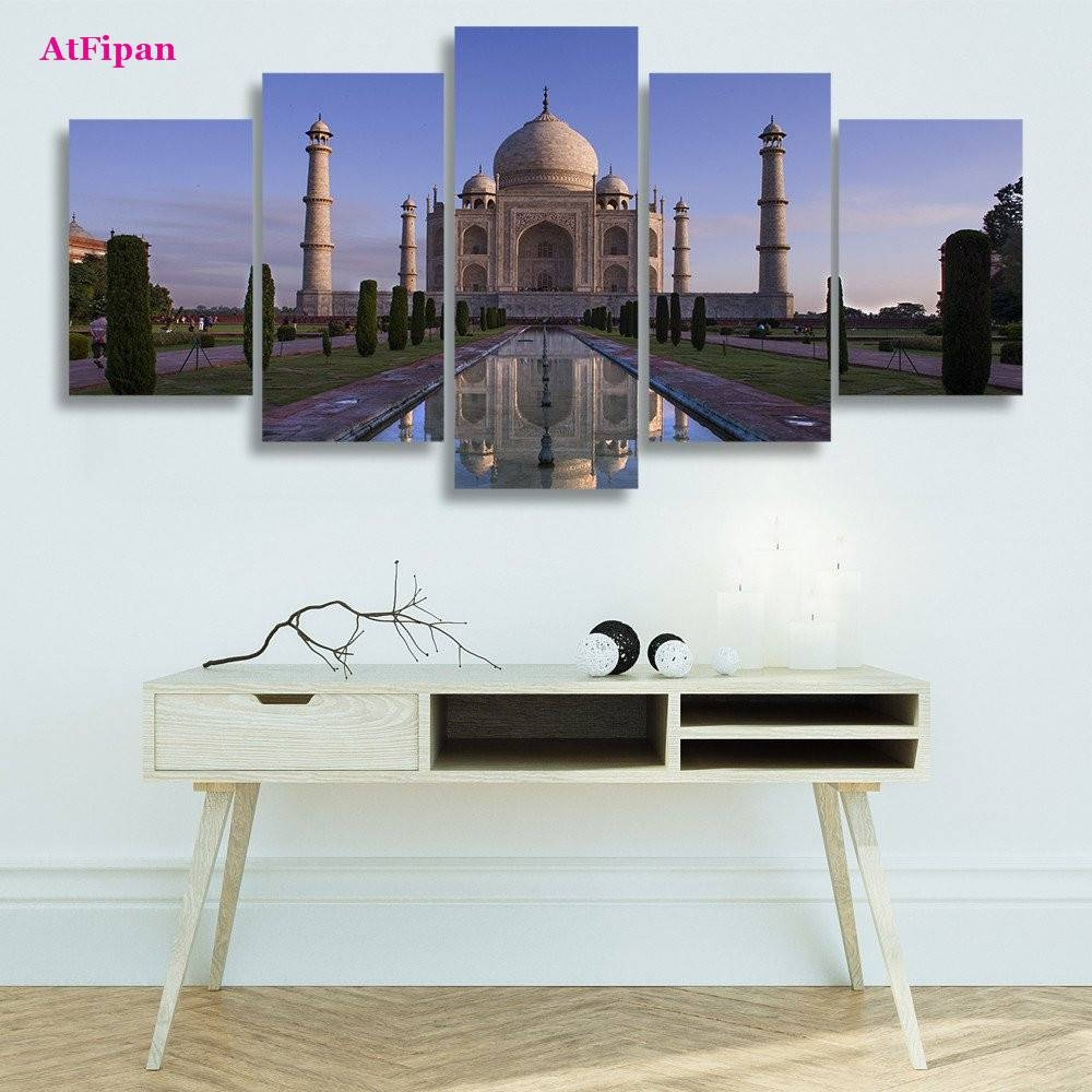 Online Shop Atfipan Hd Printed Taj Mahal Wall Art Painting Canvas Within 2017 Taj Mahal Wall Art (View 18 of 25)