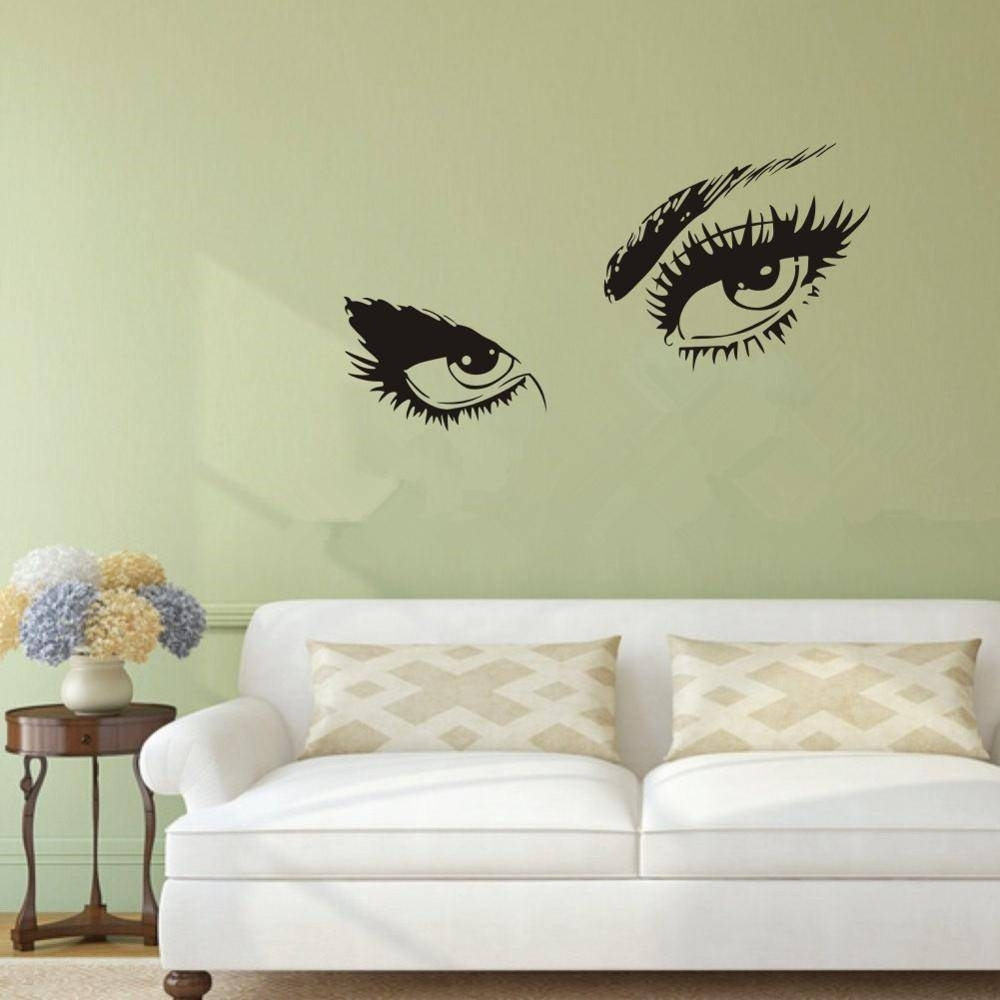 Online Shop Audrey Hepburn's Sexy Eyes 3D Wall Sticker Home Decor within Most Popular 3D Wall Art For Living Room