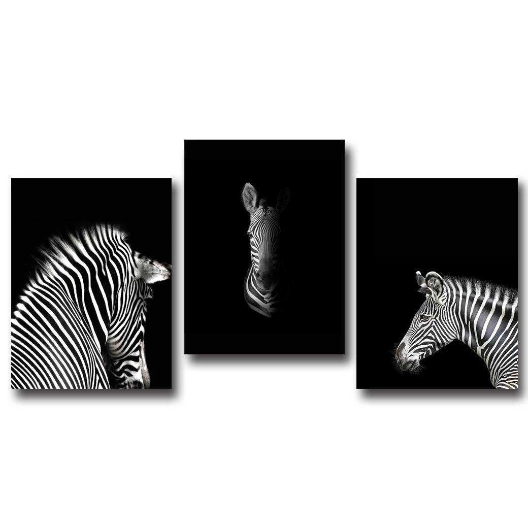 Online Shop Black White Animal Zebra Wall Art Canvas Posters And Intended For Most Current Zebra Wall Art Canvas (View 12 of 25)