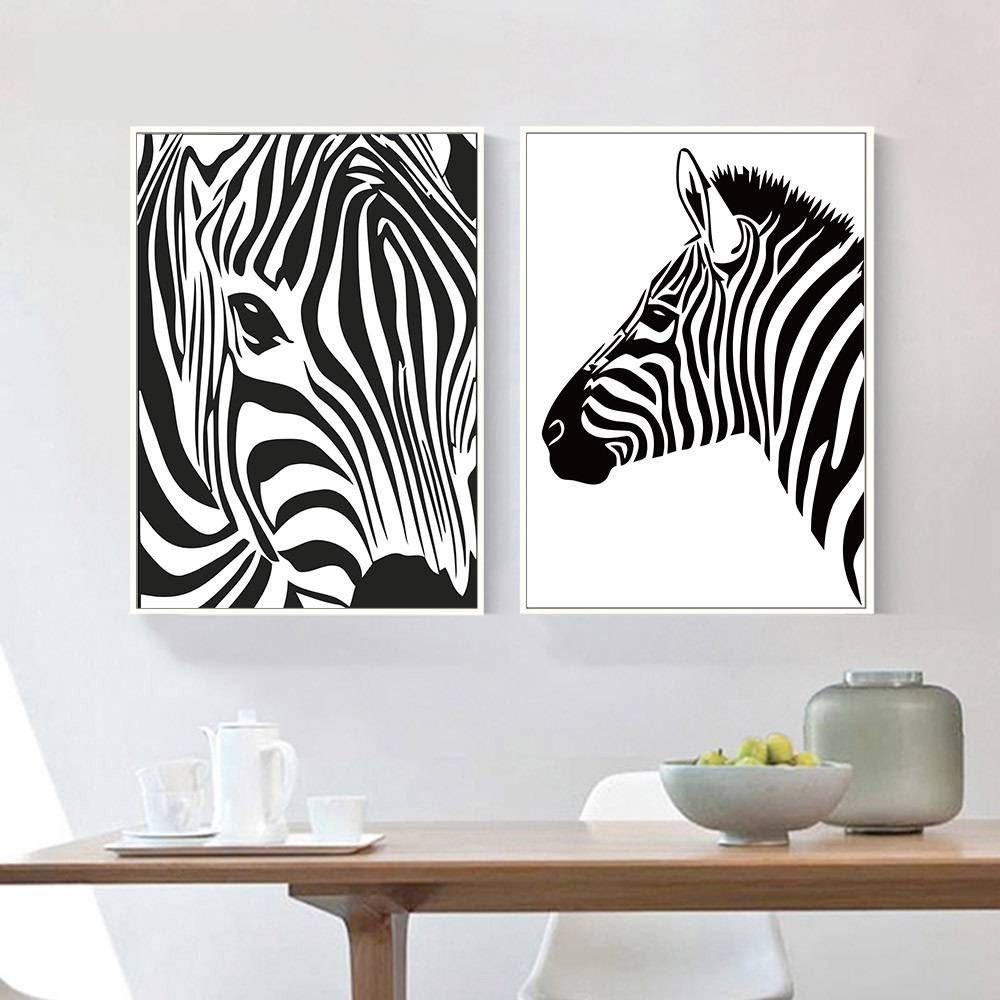 Online Shop Black White Animal Zebra Wall Art Canvas Posters And Regarding Most Up To Date Zebra Wall Art Canvas (View 7 of 25)