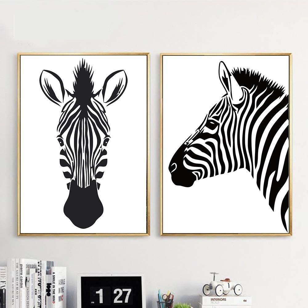 Online Shop Black White Animal Zebra Wall Art Canvas Posters And With Regard To Recent Zebra Wall Art Canvas (View 13 of 25)