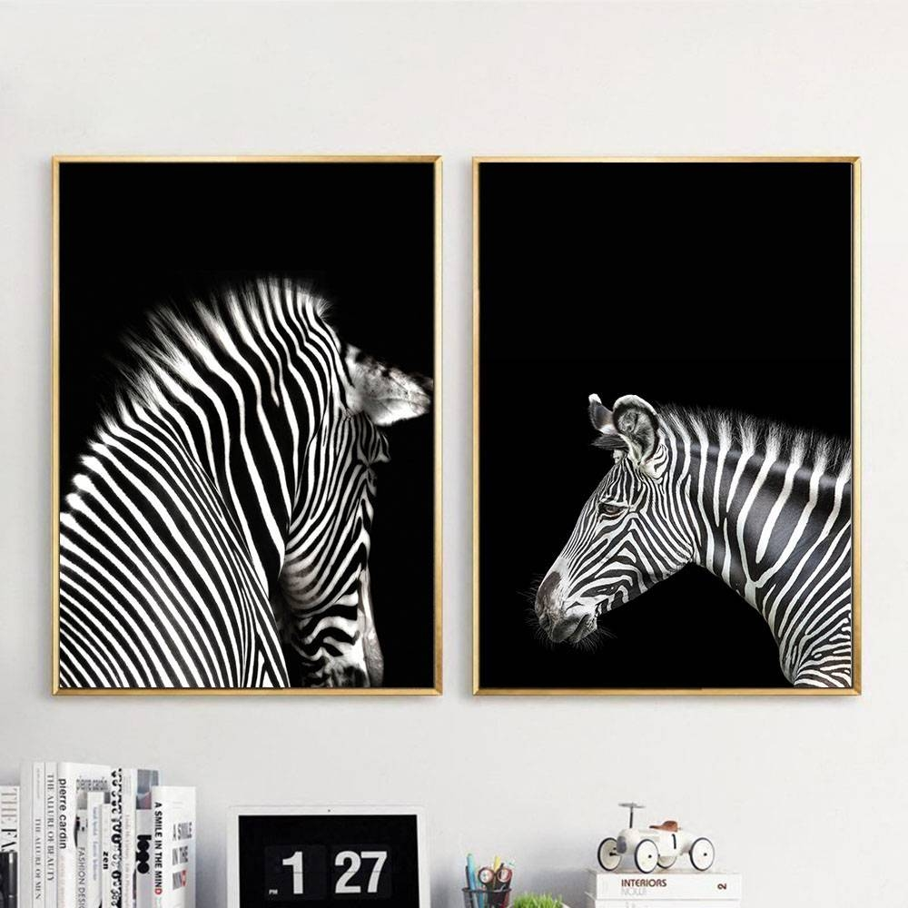 Online Shop Black White Animal Zebra Wall Art Canvas Posters And Within Latest Zebra Wall Art Canvas (View 4 of 25)
