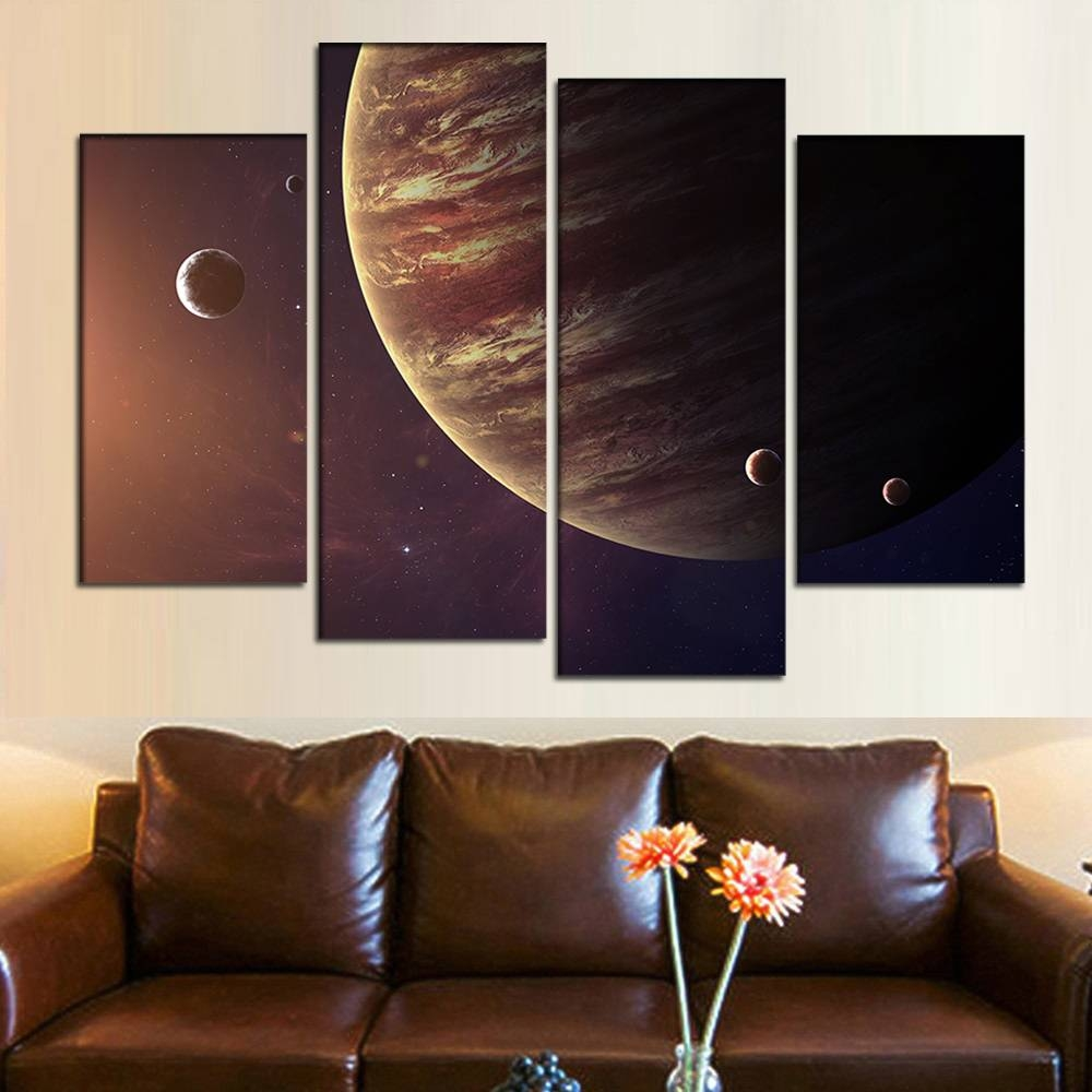 Online Shop Large Canvas Wall Art Canvas Picture Jupiter Planet Inside Most Recently Released Outer Space Wall Art (View 14 of 25)