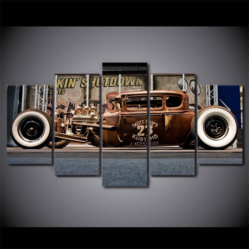 Online Shop Modern Home Wall Art Decor Canvas Modular Pictures Hd With Regard To Recent Classic Car Wall Art (View 18 of 25)