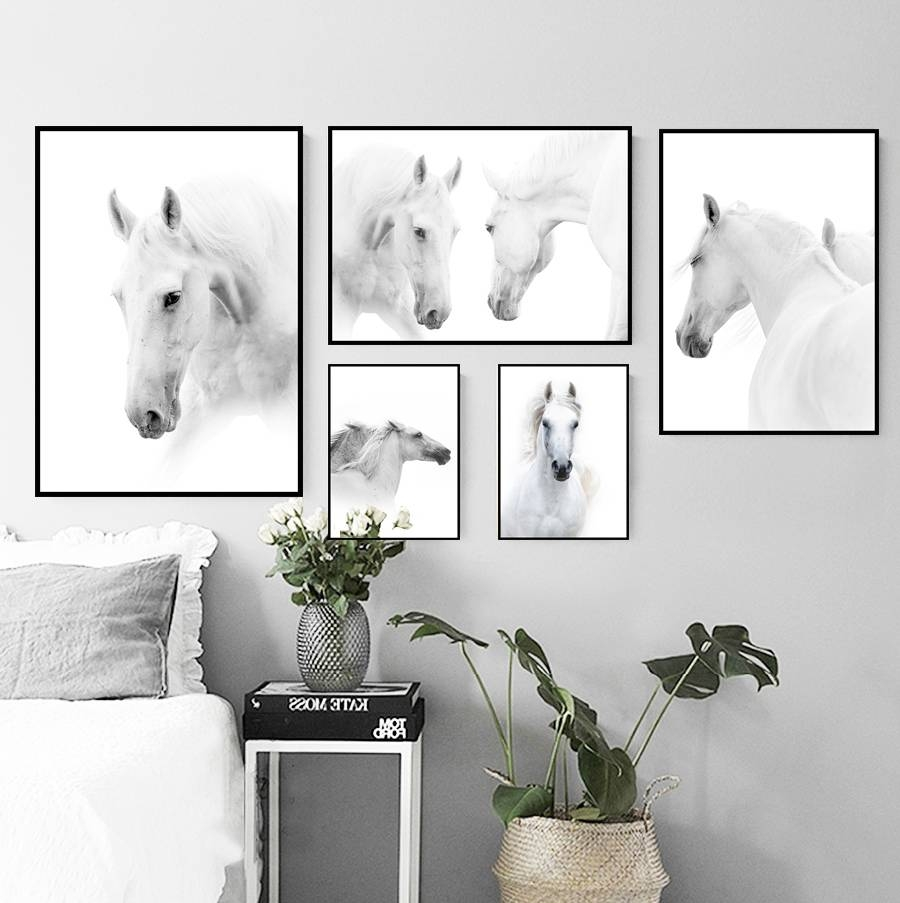 Online Shop Nordic Style Cartoon Animal Canvas Wall Art Handsome With Current Animal Canvas Wall Art (View 15 of 20)