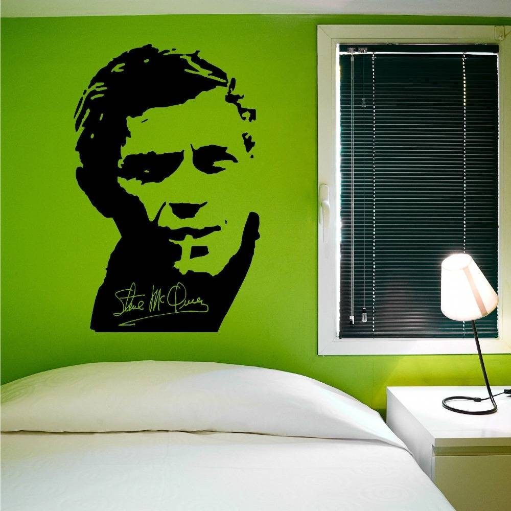 Online Shop Removable Wall Decal Steve Mcqueen Vinyl Wall Art in Most Current Steve Mcqueen Wall Art