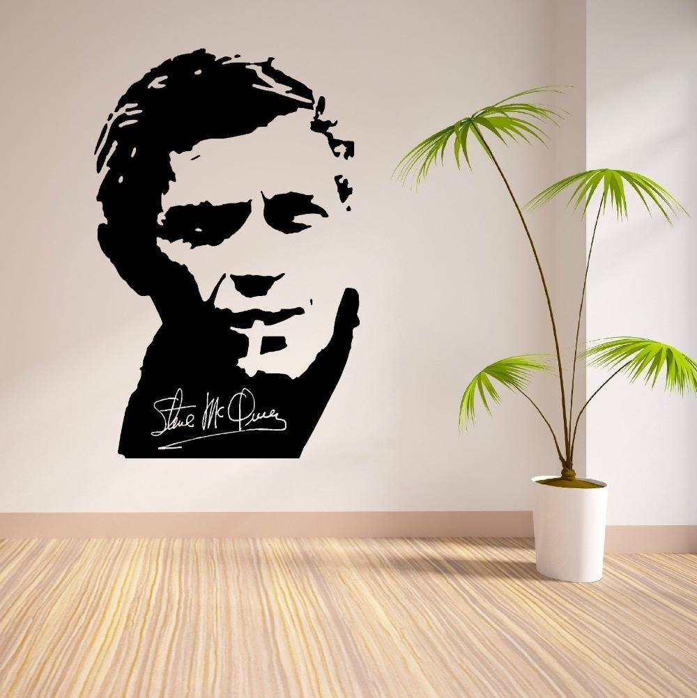 Online Shop Removable Wall Decal Steve Mcqueen Vinyl Wall Art Throughout Most Recently Released Steve Mcqueen Wall Art (Gallery 4 of 20)