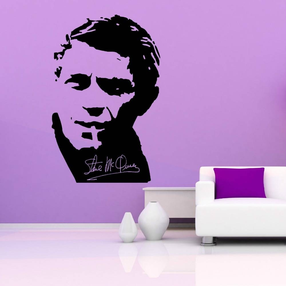 Online Shop Removable Wall Decal Steve Mcqueen Vinyl Wall Art Within Most Recently Released Steve Mcqueen Wall Art (View 8 of 20)