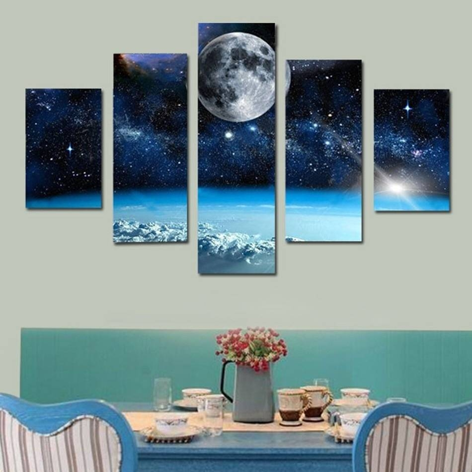 Online Shop Unframed Hd Printed Planets Outer Space Wall Decor Inside Most Current Outer Space Wall Art (View 17 of 25)