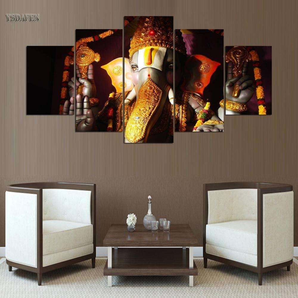 Online Shop Wall Art Pictures Home Woonkamer Decor Ganesha Poster pertaining to Most Popular Ganesh Wall Art