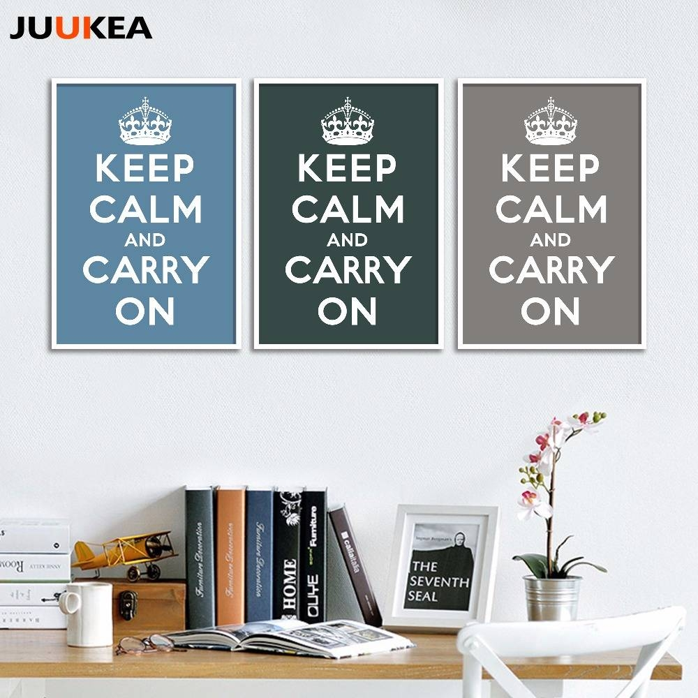 Online Shop World War Ii Classic Keep Calm And Carry On, Canvas Inside Newest Keep Calm And Carry On Wall Art (View 21 of 25)