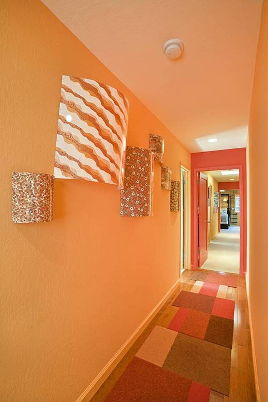 Orange Hallway Colour Ideas With Runner And Wall Art 2017 For Throughout 2018 Wall Art Ideas For Hallways (Gallery 15 of 20)