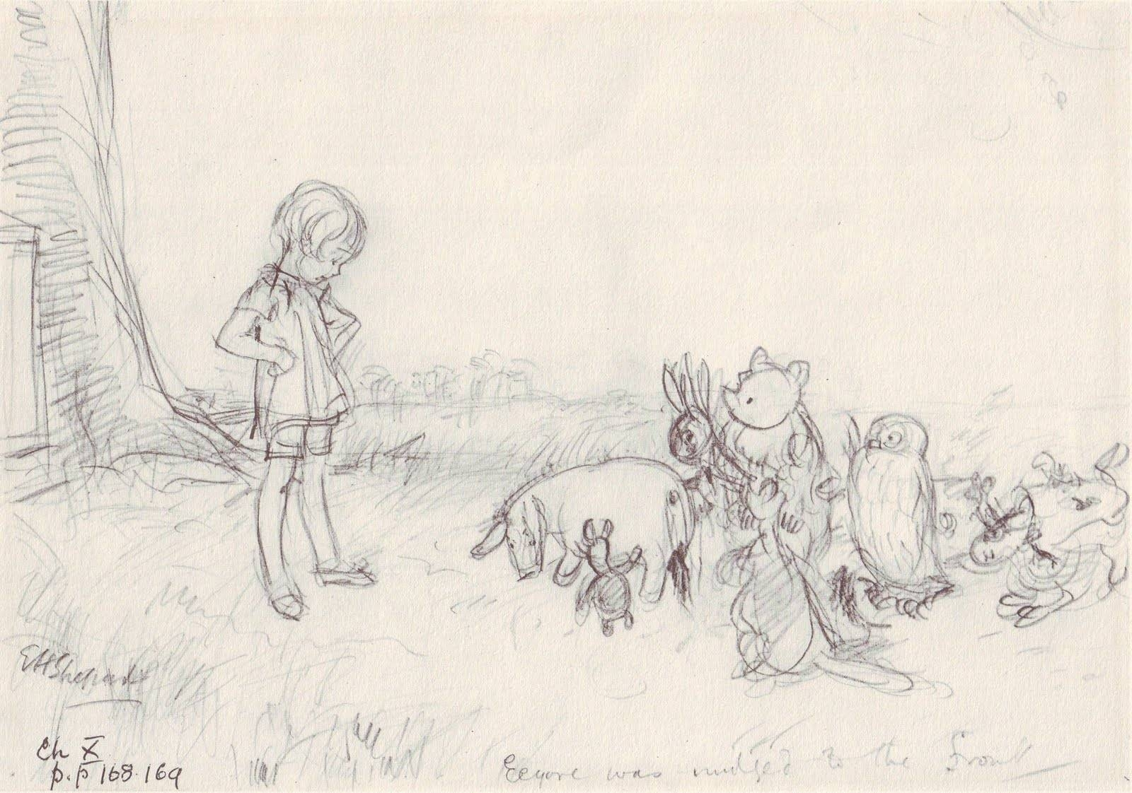Original Art Stories: Winnie The Pooh Pencil Sketches Regarding Best And Newest Classic Pooh Art (View 4 of 20)