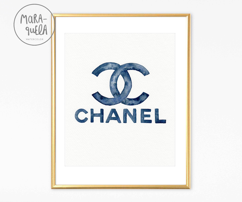 Original Chanel Elegant Indigo Blue Watercolor (View 18 of 25)