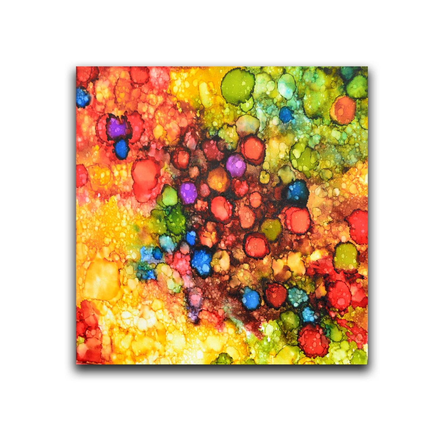 Original Painting Small Canvas Wall Art Decor Kids Room Art for Most Popular Small Canvas Wall Art