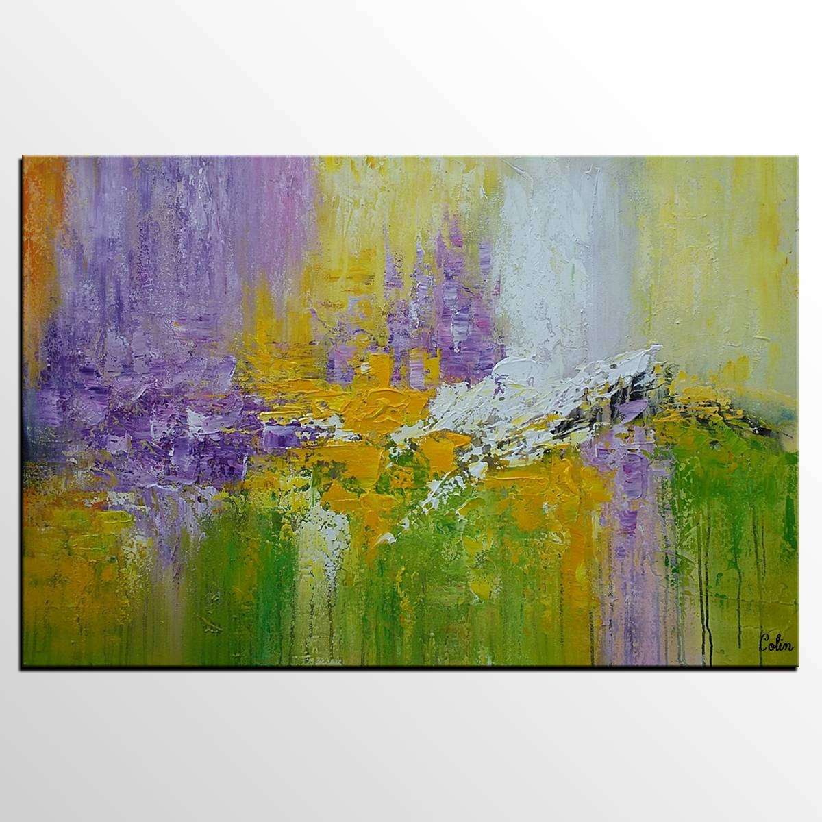 Original Wall Art, Abstract Painting, Large Art, Canvas Art, Wall Within 2017 Large Green Wall Art (View 16 of 20)