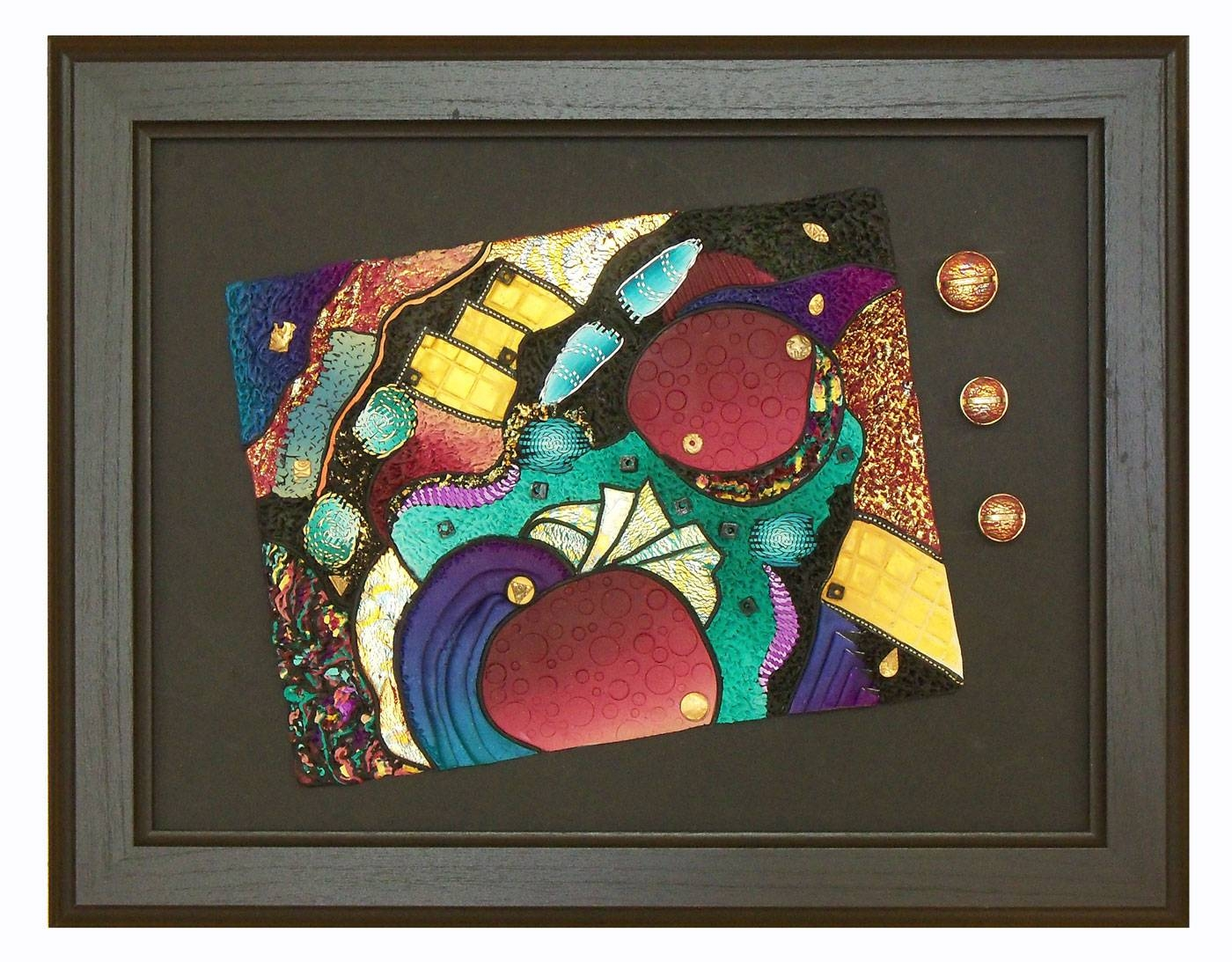 Other World – Polymer Clay Wall Art « Polymer Clay Etc. With Regard To 2017 Polymer Clay Wall Art (Gallery 2 of 20)