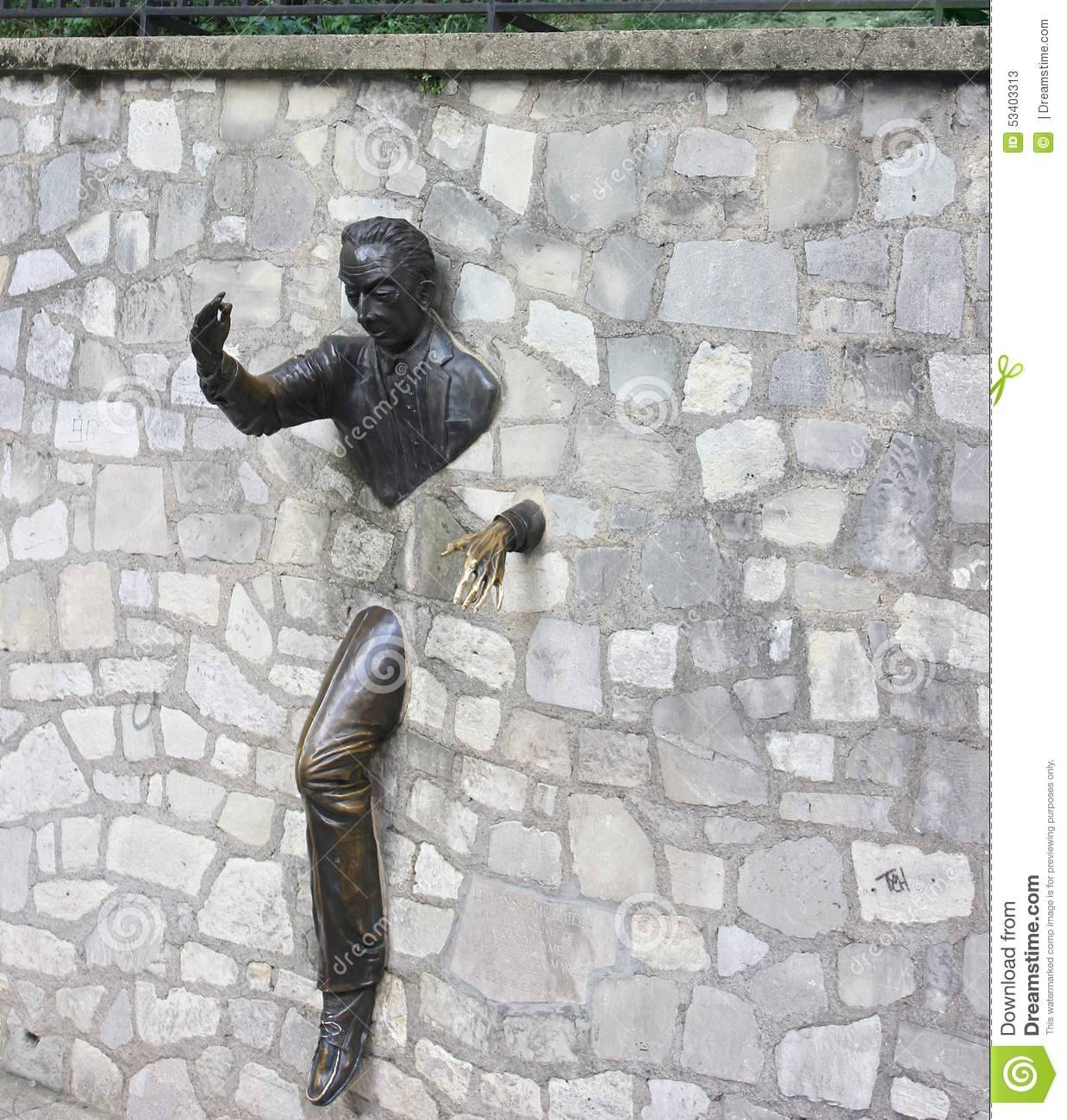 Outdoor Rock Wall Sculpture, Montmartre, Paris Stock Photo – Image Pertaining To 2018 Outdoor Wall Sculpture Art (View 5 of 20)