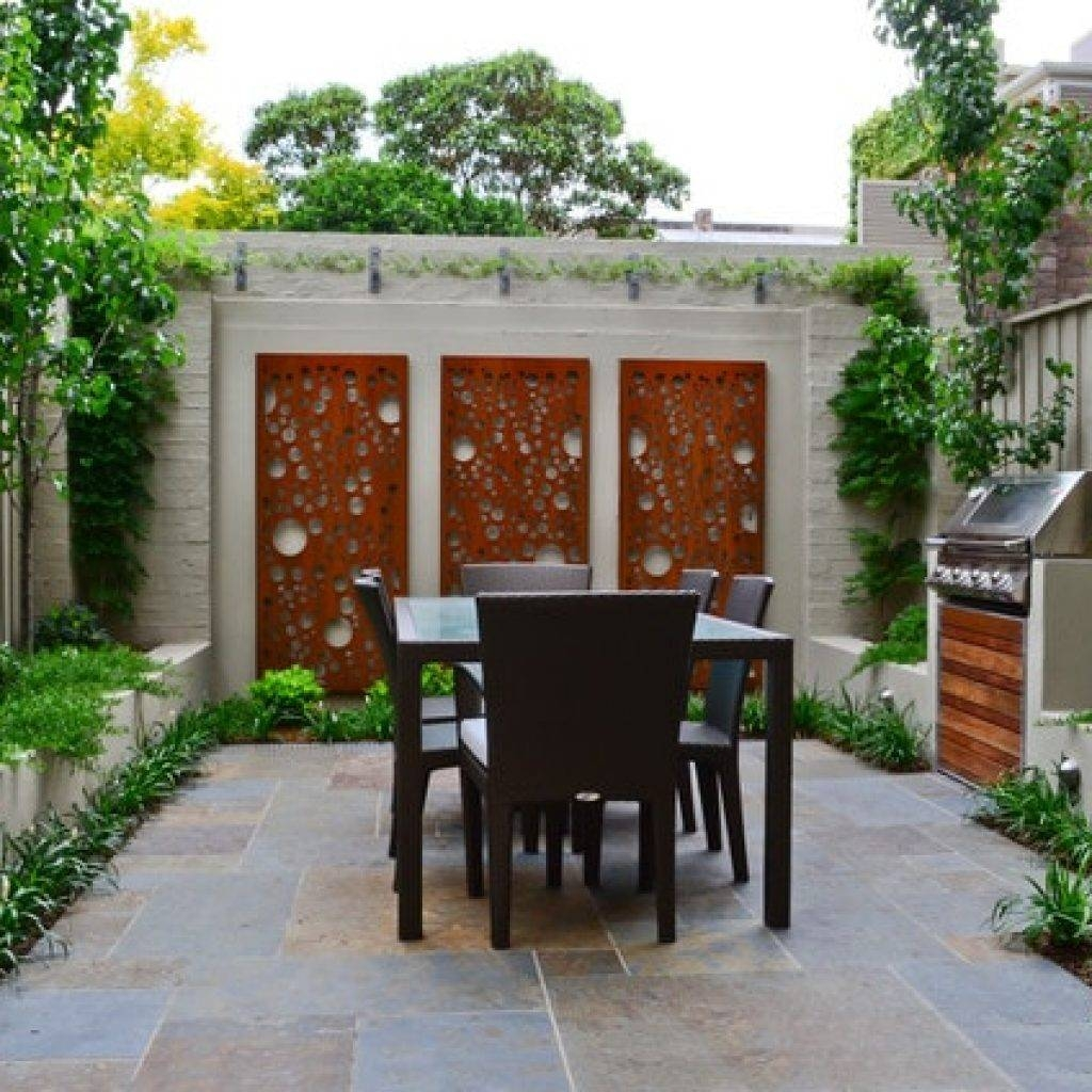 Outdoor Wall Art Cool Home Depot Patio Furniture With Patio Wall intended for 2017 Contemporary Outdoor Wall Art