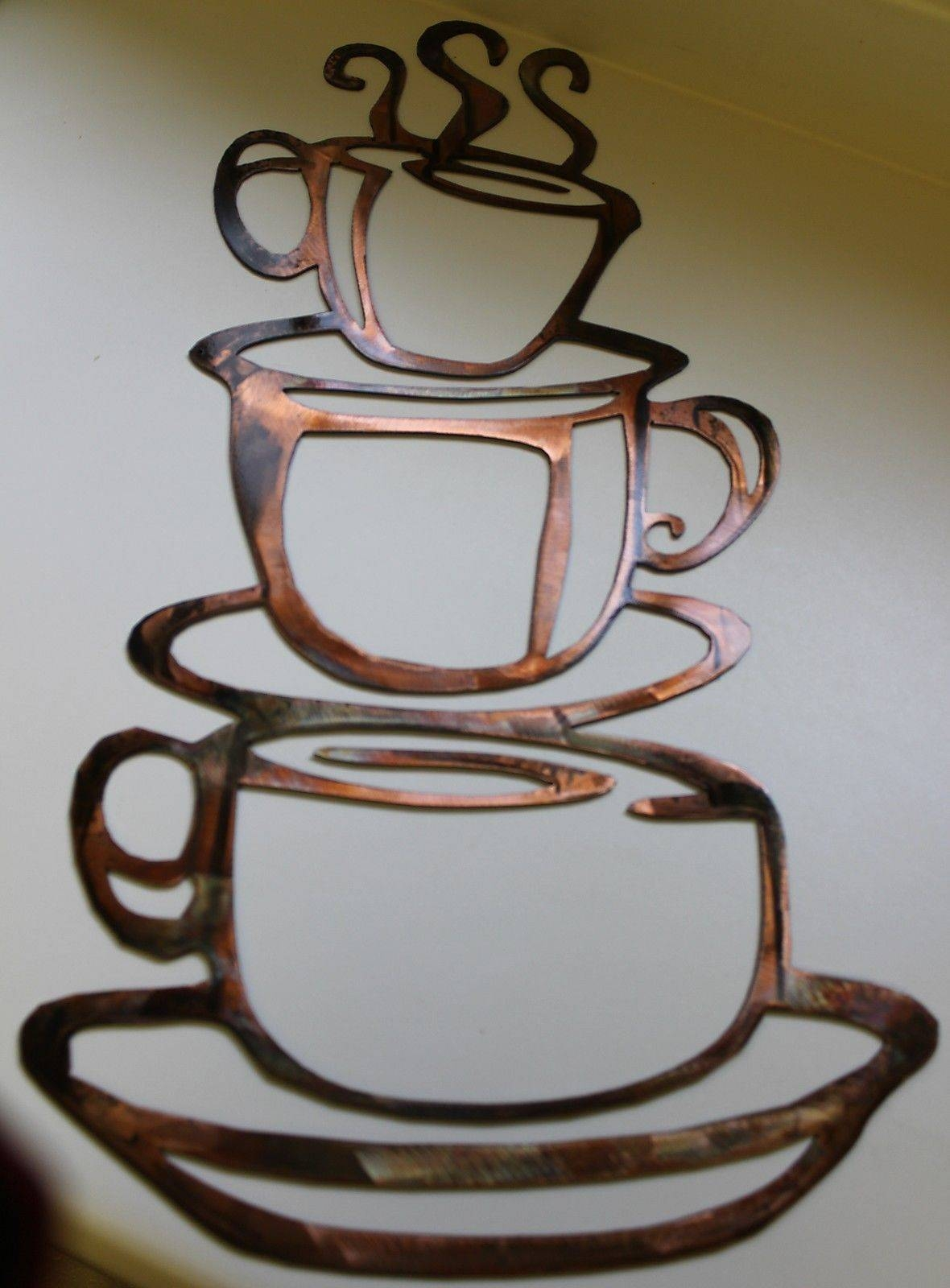 Outstanding 3D Metal Coffee Cup Wall Art Perfect Indulgence Coffee with Most Current Metal Coffee Cup Wall Art