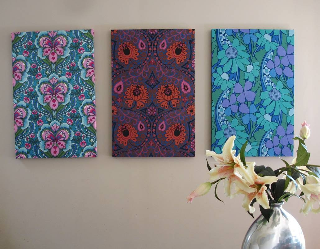 Outstanding Fabric Panel Wall Art Diy After Trendy Wall Fabric Inside Latest Stretched Fabric Wall Art (View 15 of 20)