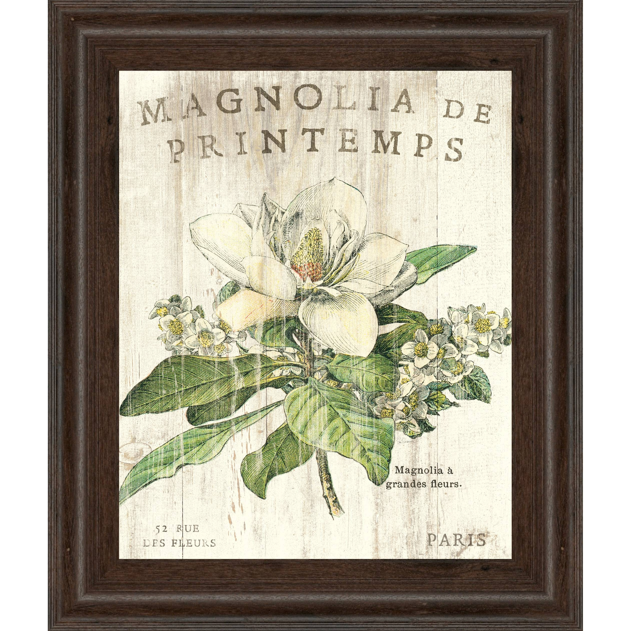 Outstanding Magnolia Market Wall Art Joy Sunday Oil Painting With Current Blossom White 3D Wall Art (Gallery 15 of 20)