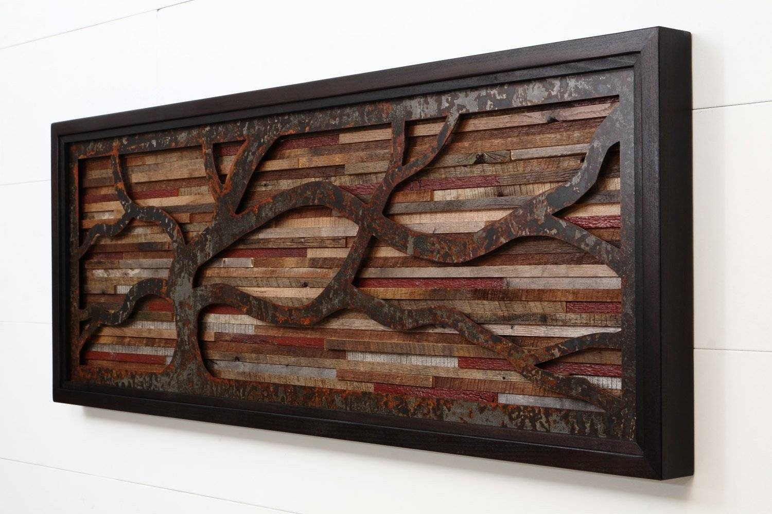 Outstanding Reclaimed Wood Wall Art – Style Motivation With 2017 Natural Wood Wall Art (View 11 of 20)
