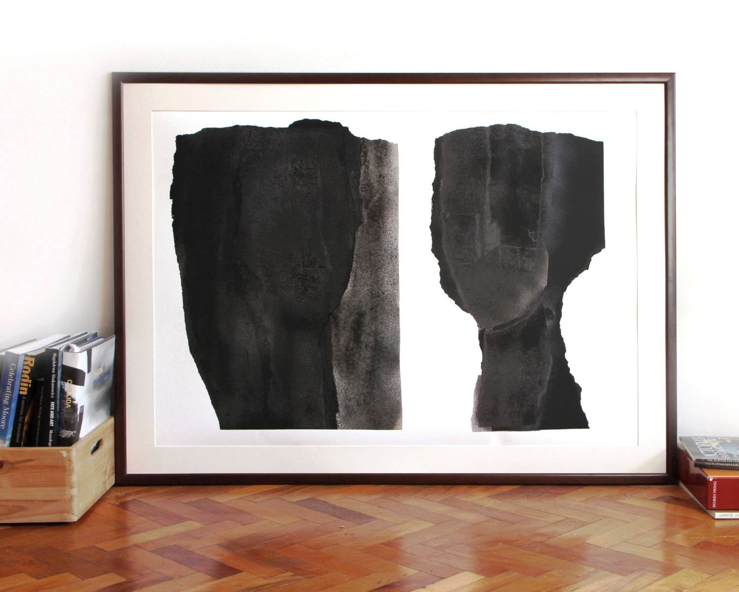 Oversized Abstract Modern Art Black And White Extra Large within Most Popular Modern Oversized Wall Art