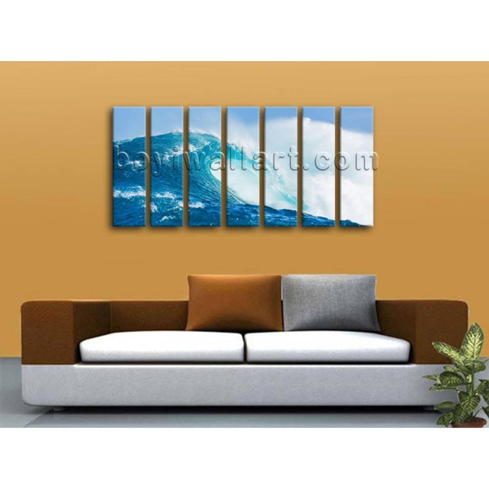 Oversized Hd Print Seascape Beach Painting Modern Canvas Wall Art With Regard To Most Current Oversized Canvas Wall Art (View 19 of 20)