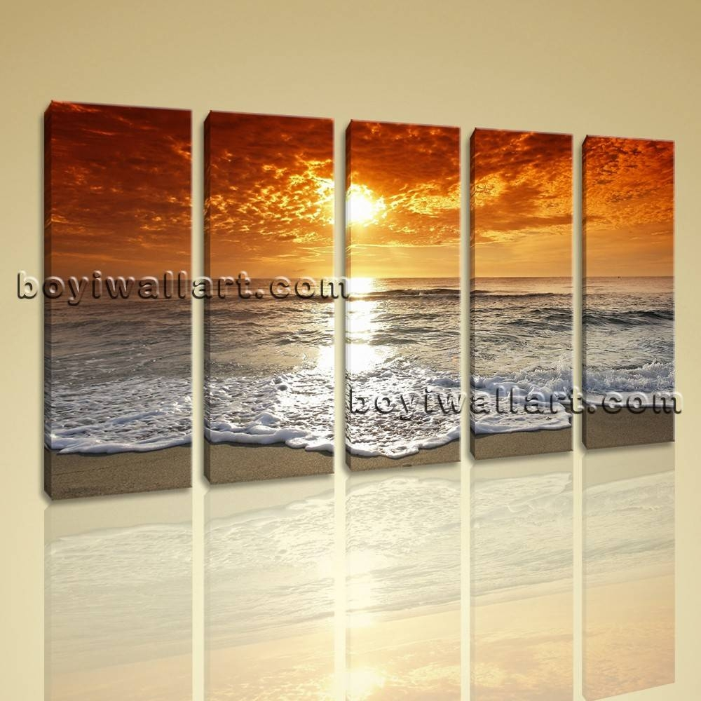 Oversized Seascape Painting Large Contemporary Wall Art Beach And For Most Current Oversized Modern Wall Art (View 10 of 20)