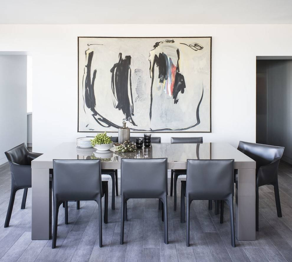 Oversized Wall Art Dining Room Contemporary With Hardwood Flooring In 2018 Modern