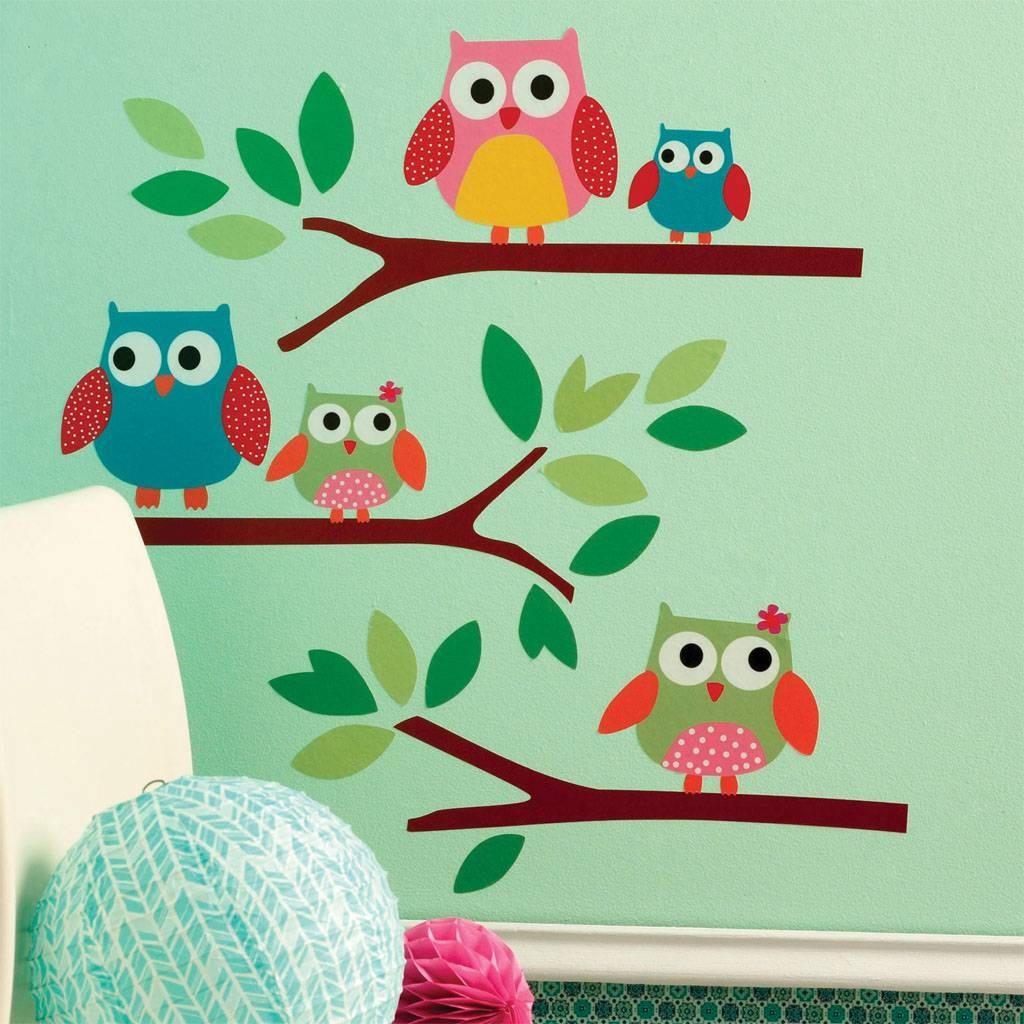 Owl Wall Art Stickers | Zsl Shop Inside Most Recently Released Owl Wall Art Stickers (Gallery 4 of 15)