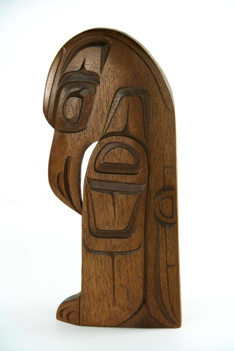 Pacific Hawaiian Polynesian Wooden Hand Carved Bird Tiki Wall Art With Latest Polynesian Wall Art (View 5 of 20)