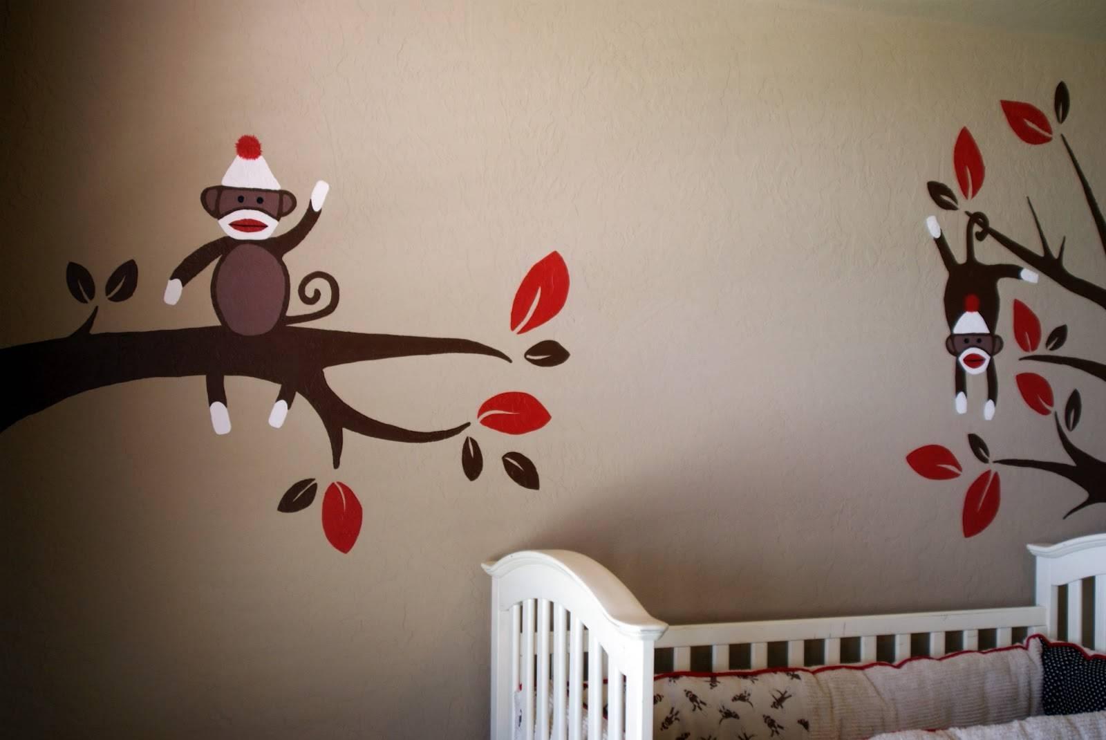 Paint Sock Monkey Nursery — Modern Home Interiors : Sock Monkey Within Recent Sock Monkey Wall Art (Gallery 1 of 30)