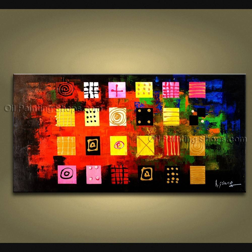 Painted Astonishing Modern Abstract Painting Wall Art Gallery Wrapped In Most Popular Electronic Wall Art (View 16 of 25)