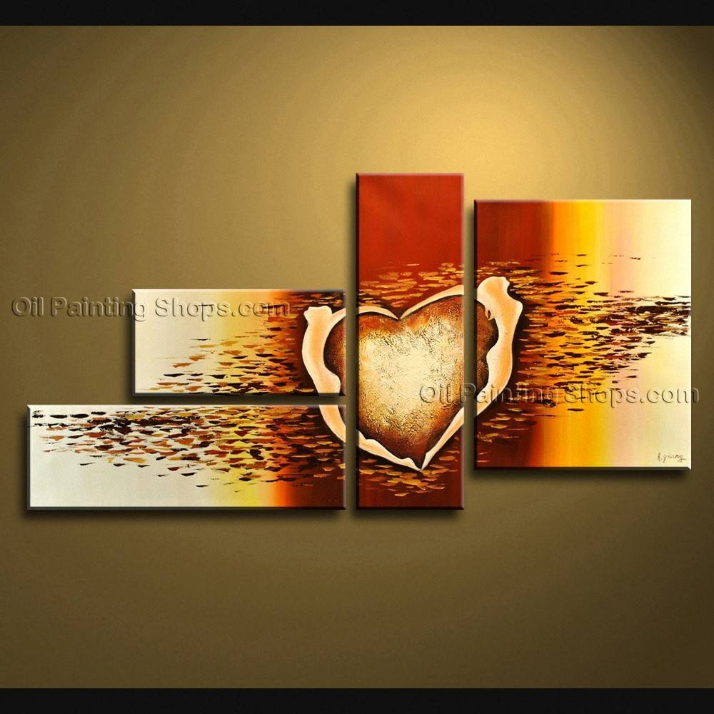 Painted Large Modern Abstract Painting Wall Art On Canvas Artworks In Most Recent Abstract Wall Art (View 11 of 15)