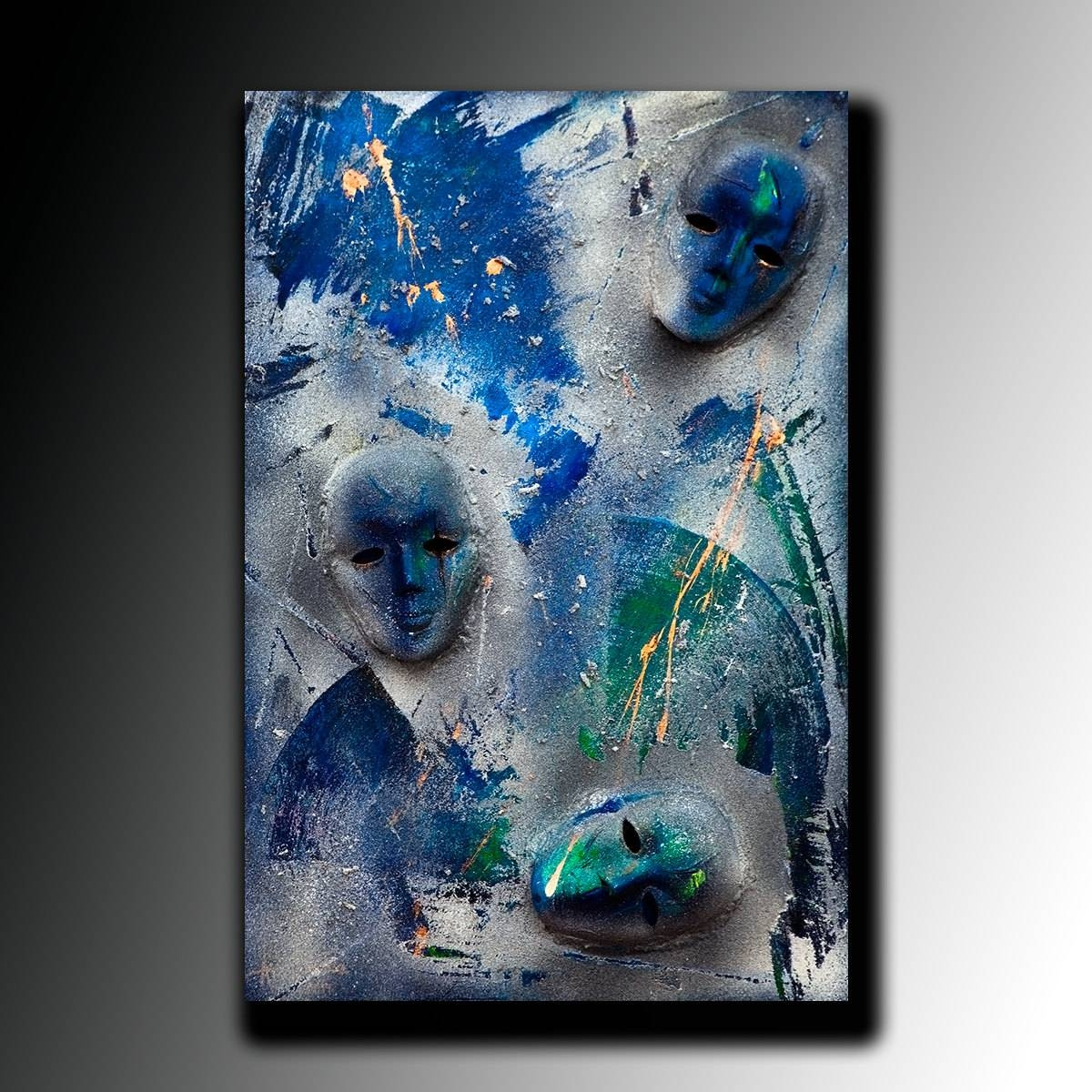 Painting Acrylic Abstract Painting Canvas Art Large Mask Intended For Current 3d Wall Art Canvas (View 12 of 20)