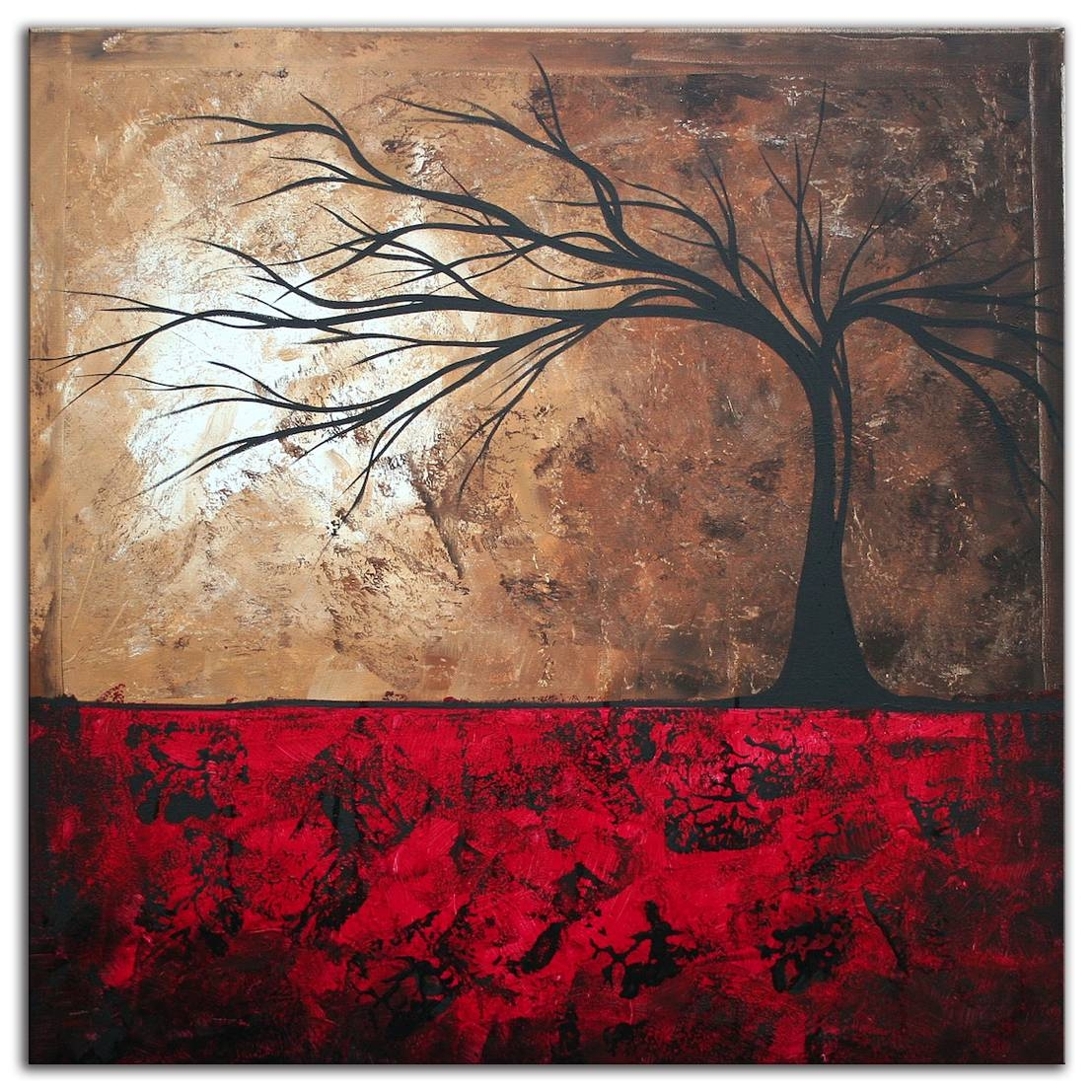 Paintings For Sale | Abstract Tree Art 'lost In The Forest' Modern Throughout Best And Newest Megan Duncanson Metal Wall Art (View 8 of 25)