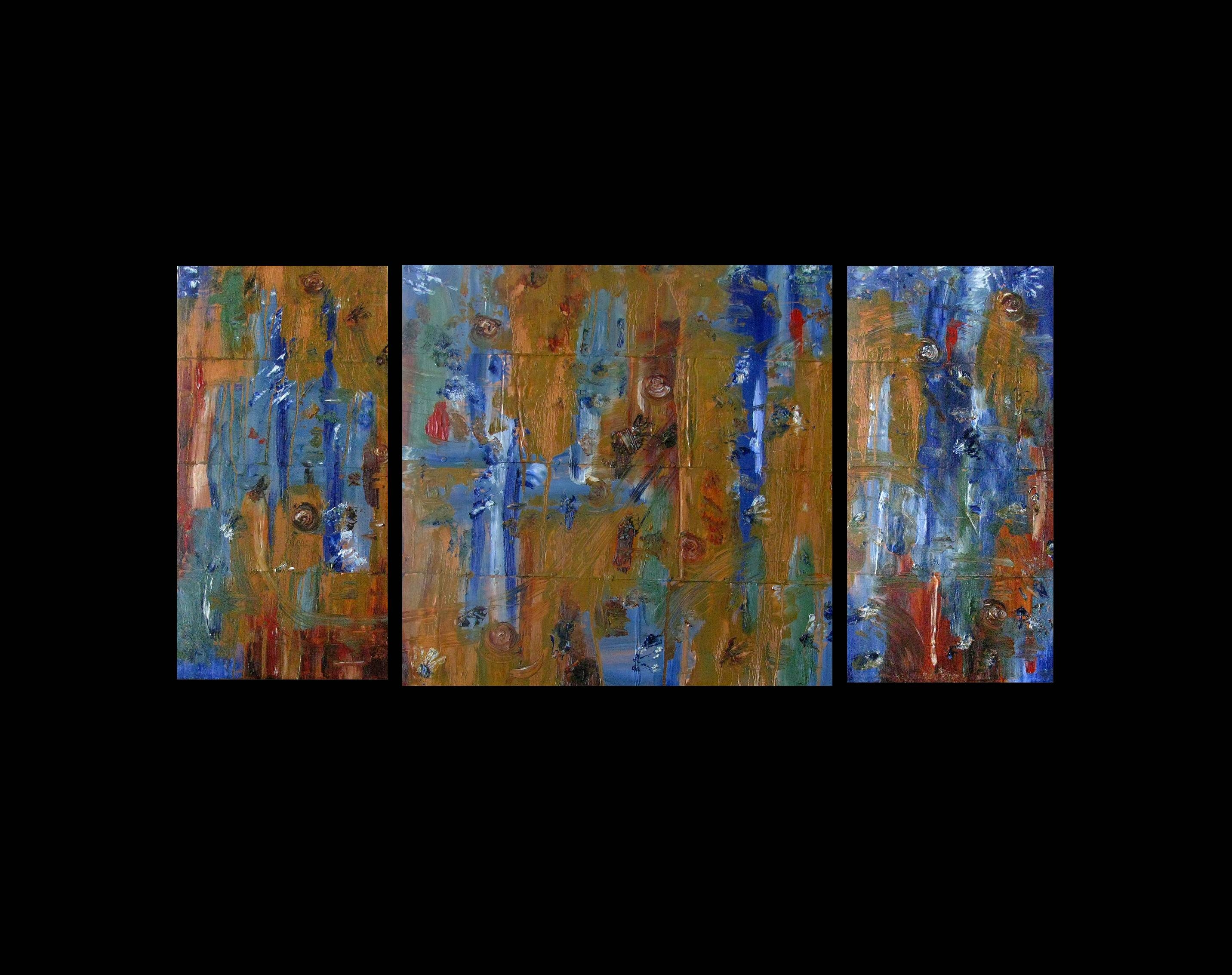 Paintings For Sale | Abstract Triptych,original Art For Sale,drip Throughout Most Current Triptych Art For Sale (View 8 of 20)