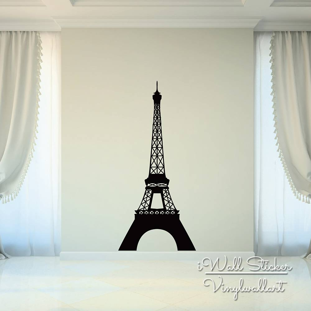 Pairs Tower Wall Sticker Modern Eiffel Tower Wall Decals Modern Intended For Most Popular Eiffel Tower Wall Art (View 18 of 20)