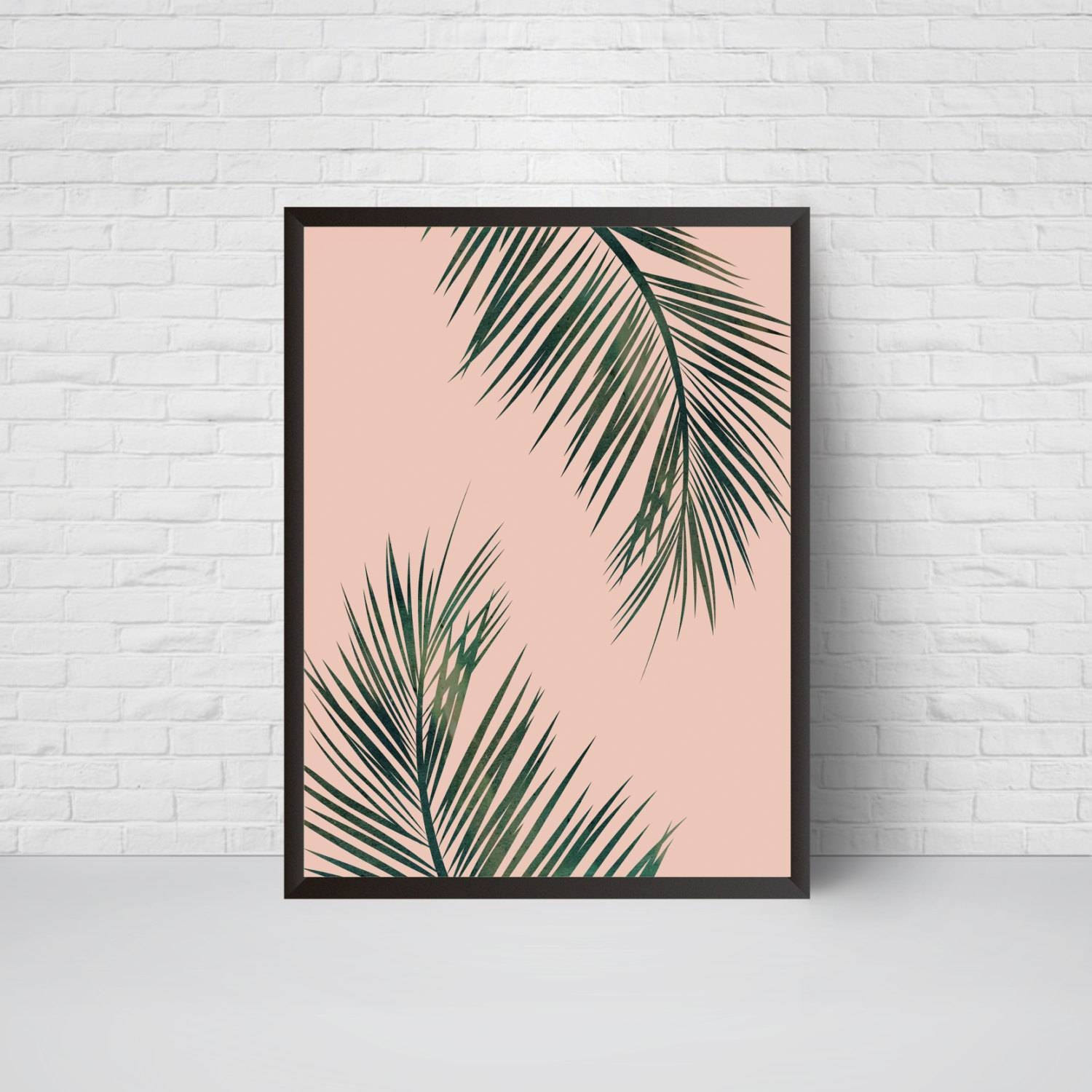 Palm Leaves Wall Art Print Beach House Leaf Decor Printable Pertaining To Most Popular Palm Leaf Wall Decor (View 18 of 25)