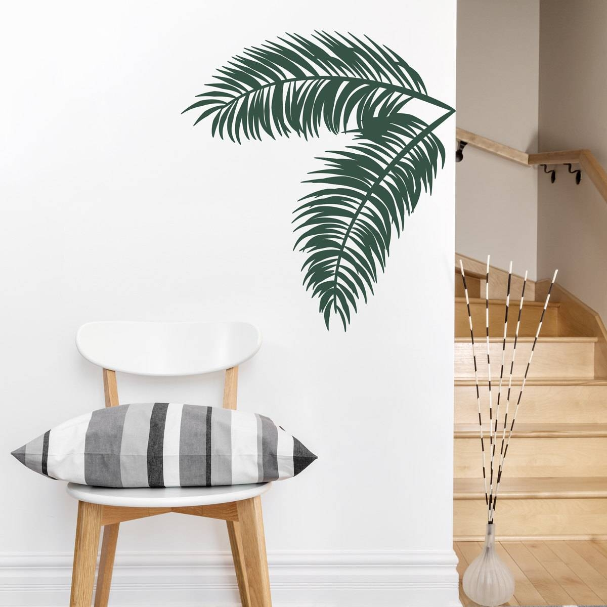 Palm Leaves Wall Decal Tropical Wall Art Palm Tree Decal For 2017 Palm Leaf Wall Art (View 3 of 20)