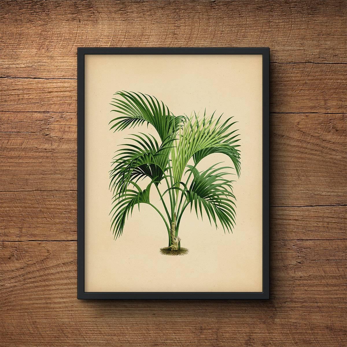Palm Tree Art Palm Leaf Wall Decor Palm Leaf Prints Palm With Regard To Most Recent Palm Leaf Wall Art (View 16 of 20)