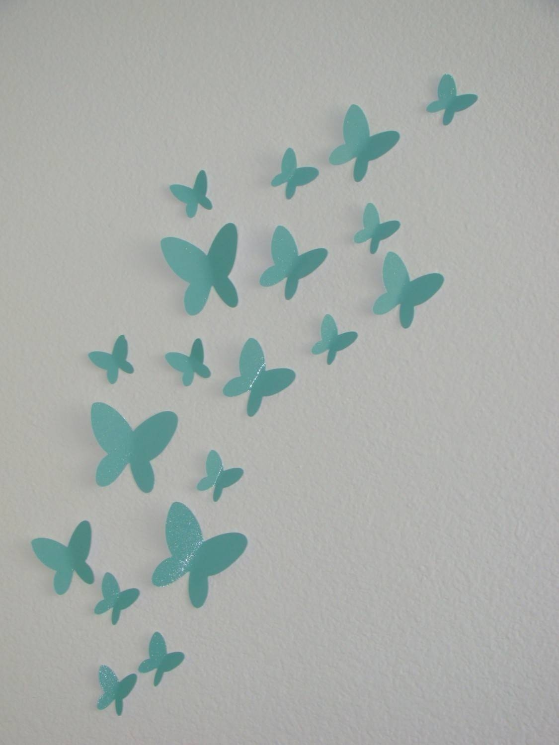 Paper Butterfly Wall Decor – Home Design & Architecture – Cilif In Most Current 3d Butterfly Wall Art (View 11 of 20)