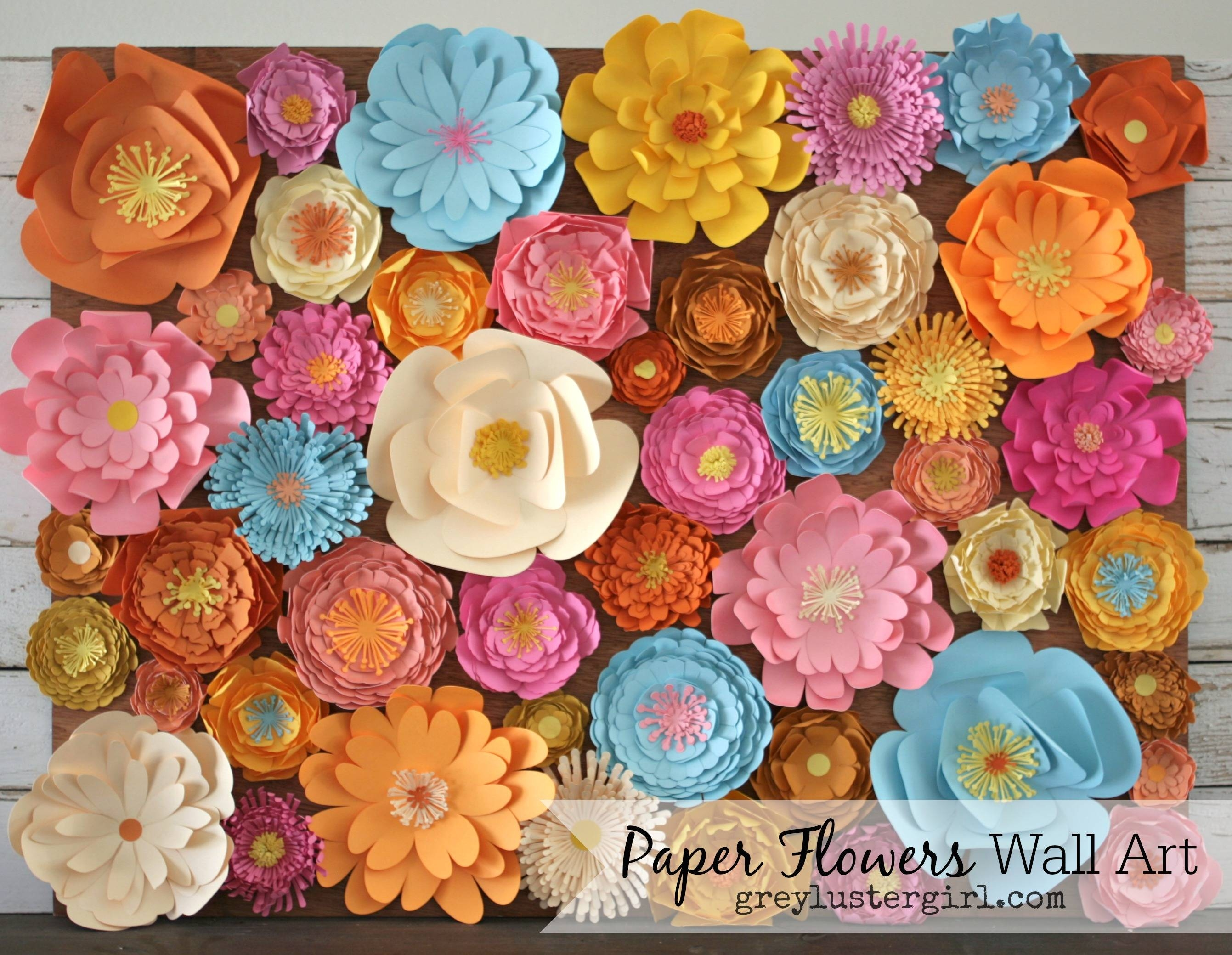 Paper Flowers Wall Art – For Most Current Flowers 3D Wall Art (View 18 of 20)